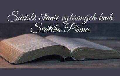 Súvislé čítanie vybraných kníh Svätého Písma