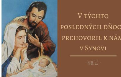 Komentár k textom na sviatok Svätej rodiny